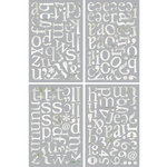 BasicGrey - Oliver Collection - Adhesive Chipboard - Alphabet
