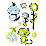 BasicGrey - Olivia Collection - Woolies - 3 Dimensional Felt Stickers, CLEARANCE