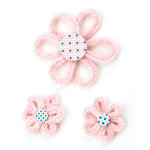 BasicGrey - Olivia Collection - Cozy Posies - Self Adhesive Chenille Flowers
