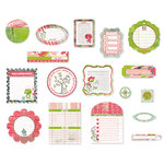 BasicGrey - Olivia Collection - Die Cut Cardstock Pieces, CLEARANCE