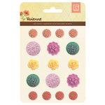 BasicGrey - Vivienne Collection - Resin Flower Stickers