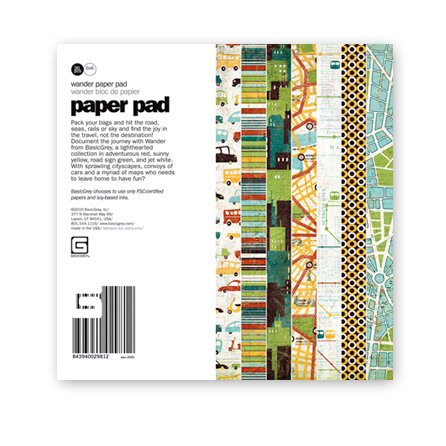 BasicGrey - Wander Collection - 6 x 6 Paper Pad, CLEARANCE