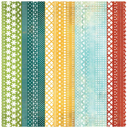 BasicGrey - Wander Collection - Doilies - 12 x 12 Die Cut Paper - Runway, CLEARANCE