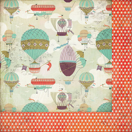 BasicGrey - Whats Up Collection - 12 x 12 Double Sided Paper - Balloon Festival