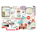 BasicGrey - Whats Up Collection - Die Cut Cardstock and Transparencies Pieces