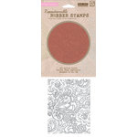 Hero Arts - BasicGrey - Out of Print Collection - Clings - Repositionable Rubber Stamps - Flower Dot Pattern