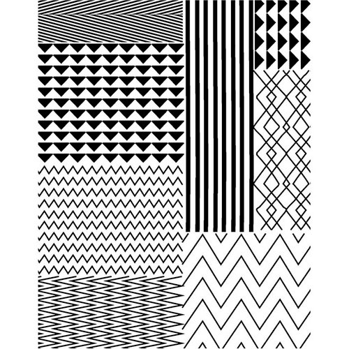 Hero Arts - BasicGrey - PBandJ Collection - Repositionable Rubber Stamps - Zig Zag and More Background