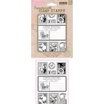 Hero Arts - BasicGrey - Out of Print Collection - Poly Clear - Clear Acrylic Stamps - Carte Postale
