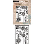 Hero Arts - BasicGrey - Little Black Dress  Collection - Poly Clear - Clear Acrylic Stamps - Love and Lace