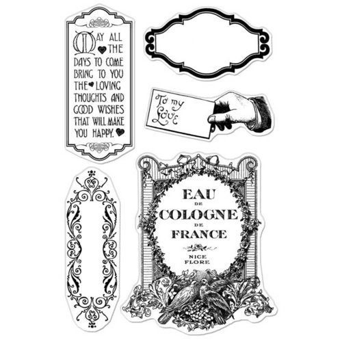 Hero Arts - BasicGrey - Kissing Booth Collection - Poly Clear - Clear Acrylic Stamps - Make You Happy