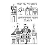 Hero Arts - BasicGrey - Whats Up Collection - Poly Clear - Clear Acrylic Stamps - Love From Our House
