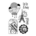 Hero Arts - BasicGrey - Whats Up Collection - Poly Clear - Clear Acrylic Stamps - Away