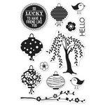 Hero Arts - BasicGrey - Konnichiwa Collection - Poly Clear - Clear Acrylic Stamps - Konnichiwa Lantern