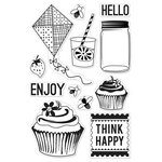 Hero Arts - BasicGrey - PBandJ Collection - Poly Clear - Clear Acrylic Stamps - Picnic