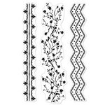 Hero Arts - BasicGrey - Plumeria Collection - Poly Clear - Clear Acrylic Stamps - Garden Borders
