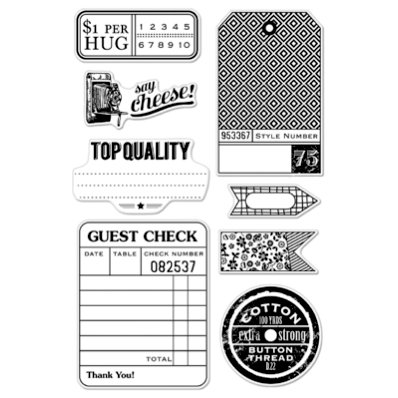 Hero Arts - BasicGrey - Clippings Collection - Poly Clear - Clear Acrylic Stamps - Guest Check