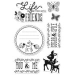 Hero Arts - BasicGrey - Mint Julep Collection - Poly Clear - Clear Acrylic Stamps - You and Me