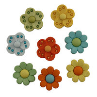 Buttons Galore - Embellishments - Psychedelic Flowers