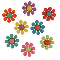 Buttons Galore - Embellishments - Funky Flowers