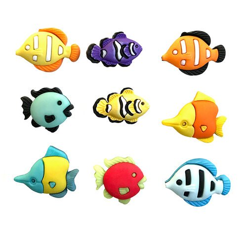 Buttons Galore - Embellishments - Button Theme Packs - Tropical Fish