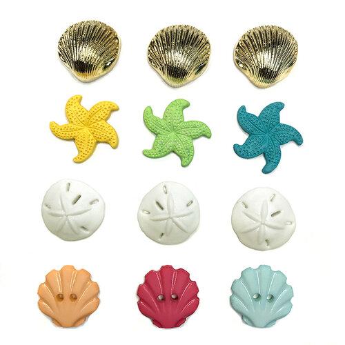 Buttons Galore - Embellishments - Button Theme Packs - Beach Treasures