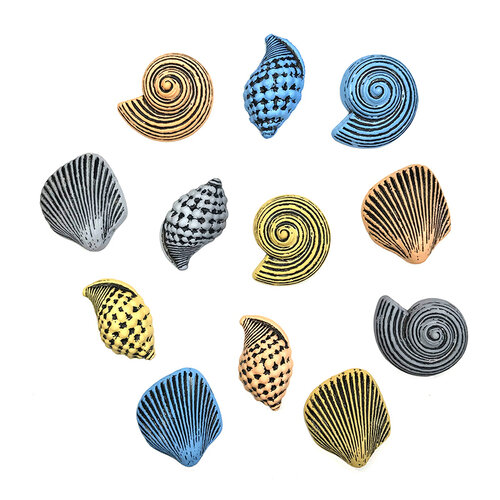 Buttons Galore - Embellishments - Button Theme Packs - Seashells
