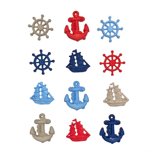 Buttons Galore - Embellishments - Button Theme Packs - Ahoy