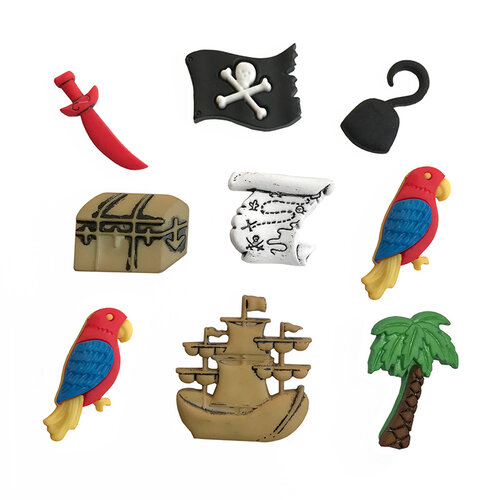 Buttons Galore - Embellishments - Button Theme Packs - A Pirates Life