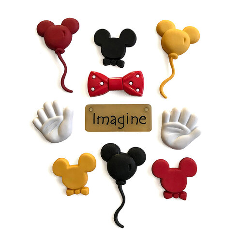 Buttons Galore - Embellishments - Button Theme Packs - Mouse Ears