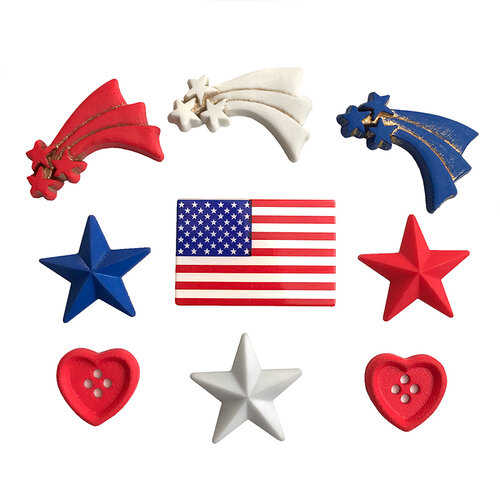 Buttons Galore - Embellishments - Button Theme Packs - Stars and Stripes
