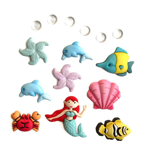 Buttons Galore - Embellishments - Button Theme Packs - Under The Sea