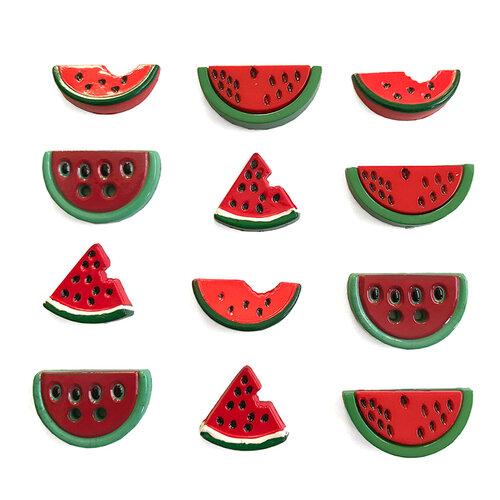 Buttons Galore - Embellishments - Button Theme Packs - Watermelon Medley