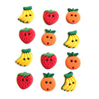 Buttons Galore - Embellishments - Button Theme Packs - Summer Fruit
