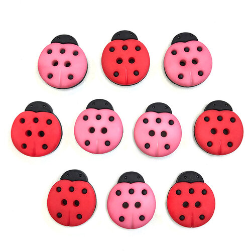 Buttons Galore - Embellishments - Button Theme Packs - Lucky Ladybugs