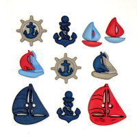 Buttons Galore - Embellishments - Button Theme Packs - Come Sail Away