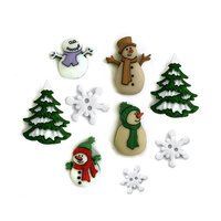 Buttons Galore - Christmas - Embellishments - Button Theme Packs - Jack Frost
