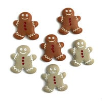 Buttons Galore - Christmas - Embellishments - Button Theme Packs - Gingerbread Cookies