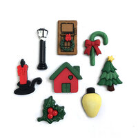 Buttons Galore - Christmas - Embellishments - Button Theme Packs - Home for the Holidays