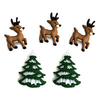 Buttons Galore - Christmas - Embellishments - Button Theme Packs - Reindeer Fun