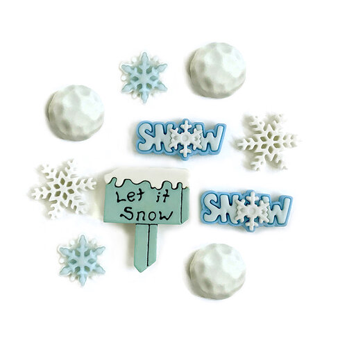 Buttons Galore - Christmas - Embellishments - Button Theme Packs - Snow Day