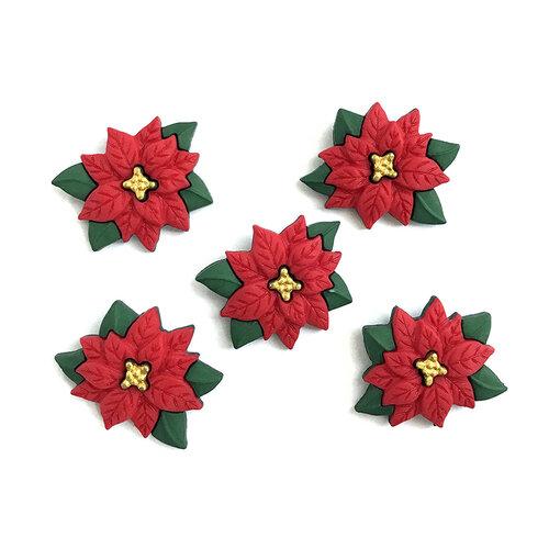 Buttons Galore - Christmas - Embellishments - Button Theme Packs - Poinsettias