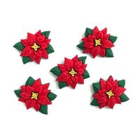 Buttons Galore - Christmas - Embellishments - Button Theme Packs - Poinsettias