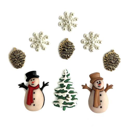 Buttons Galore - Christmas - Embellishments - Button Theme Packs - Christmas Past