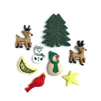 Buttons Galore - Christmas - Embellishments - Button Theme Packs - Woodland