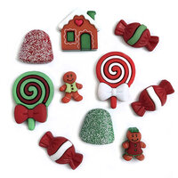 Buttons Galore - Christmas - Embellishments - Button Theme Packs - Gingerbread Cottage