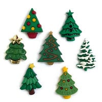 Buttons Galore - Christmas - Embellishments - Button Theme Packs - Christmas Trees