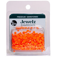 Buttons Galore and More - Jewelz Collection - Jewel Embellishments - Mid Orange Aurora Borealis