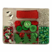 28 Lilac Lane - Christmas - Craft Embellishment Kit - Holly Jolly