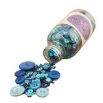 28 Lilac Lane - Decorative Embellishment Bottle - Winter Blues