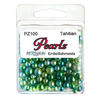 Buttons Galore - Pearlz Collection - Embellishments - Tahitian
